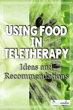 Can you use food in teletherapy?  Absolutely!  Using food or food themes are functional and generally popular.  Here are some ideas on incorporating food and food themes in teletherapy.  #speechtherapy #teletherapy #thespeechmeadow #languagetherapy #slp #schoolslp #sped