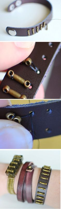 DIY Leather Bracelets for the Jewelry Novice