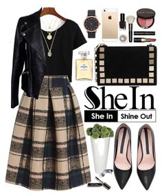"""""""Shein"""" by oshint ❤ liked on Polyvore featuring Tomasini, Alexander McQueen, Bobbi Brown Cosmetics, Chanel, Marc Jacobs and vintage"""