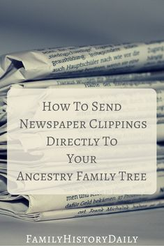 This Old Newspaper Site Lets You Clip Directly to Your Ancestry Tree Newspapers can be an important genealogy research tool. This site lets you clip directly to your ancestry family tree to keep your genealogy research organized. Free Genealogy Sites, Genealogy Forms, Genealogy Search, Family Genealogy, Genealogy Humor, Genealogy Chart, Ancestry Tree, Family Tree Research, Genealogy Organization