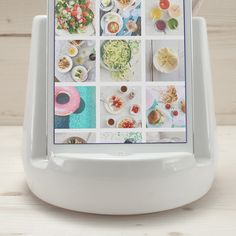 Stak Ceramics White Kitchen Dock - awesome. Will have to contemplate, holds both utensils & mini IPad. Have it one way for decor, turn it around and cook from recipes on you iPad :)