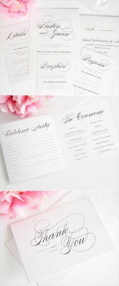 script elegance wedding invitations from shine #script #weddinginvitations #stationery http://www.shineweddinginvitations.com/wedding-invitations/script-elegance-wedding-invitations