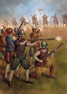 Jason Juta - Arcabuceros en la batalla de Villalar, 1521.