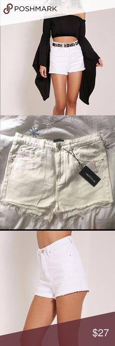White High Waisted Shorts Pretty Little Thing's brand new Denim Shorts!! Levi's Shorts Jean Shorts