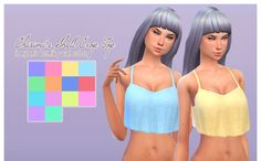 """""""Chisimi's wonderful shirt in Nyren's colors. You need the mesh for these recolors to show up. They will appear as swatches under the original. Download """""""