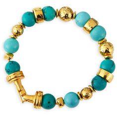 Jose & Maria Barrera Turquoise Beaded Bracelets