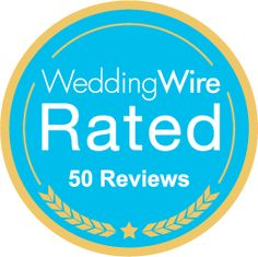 We just earned the WeddingWire Rated Gold badge for receiving 50+ reviews! http://wed.li/wwrated