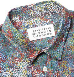 Maison Martin MargielaDot-Print Cotton Shirt