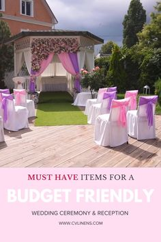 You can throw a gorgeous outdoor wedding ceremony and wedding reception party this summer wedding season with CV Linens wholesale wedding linens and decorations on a budget. Click to shop our large collection of wedding backdrop draping, chair covers, chair sashes, tablecloths, backdrop stands, flower wall panels, artificial flowers, and more! Our prices are always low for our high quality wedding table linens. Use these beautiful affordable wedding decorations for any outdoor wedding ceremony. Outdoor Wedding Backdrops, Wedding Reception Backdrop, Reception Party, Tent Wedding, Wedding Ceremony, Wedding Table Linens, Outdoor Wedding Inspiration, Wedding Decorations On A Budget, Chair Sashes