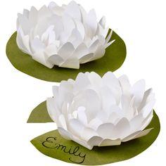 Flor de loto de papel.