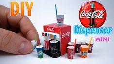 DIY Realistic Miniature Coca-Cola Dispenser   DollHouse   No Polymer Clay!