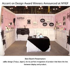 Sandra @ ribbonsandfavors.com  Tradeshow both. Amazing!!! Mural paintings on walls for a small display table and a few small shelves as well. This small display table would look very lonely on it's own. but add the mural and...wow!