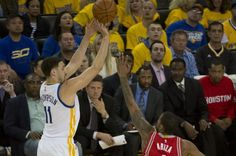 OAKLAND, Calif. -- The Golden State Warriors held the Houston Rockets scoreless for almost seven minutes of the fourth quarter Friday…