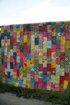 Good Folks Brick Path quilt top by dodgebutterfly, via Flickr - Another pattern idea for my new jelly roll!