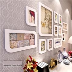 Modern Wood Wall Frame Collection  - Set of 12 Pieces