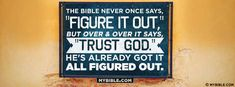 The Bible Says To Trust God. - Facebook Cover Photo
