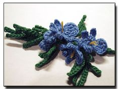 free pattern - Rosemary Flower - 365 Flowers Project