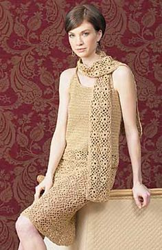 crochet skirt skirt scarf pattern via 20 Popular Free #Crochet Skirt Patterns for Women