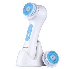 KINGDOMCARES Valentines Day Gifts Facial Cleansing Brush Sonic System Electrical Rechargeable Waterproof Facial Brush Massager Portable Exfoliator Cleanser Scrubber Skin Care Brush Face White *** Want additional info? Click on the image.