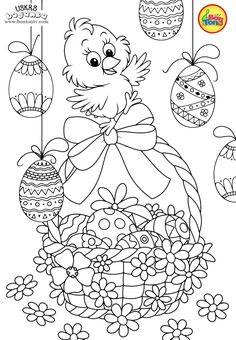 Easter coloring pages - Uskrs bojanke za djecu - Free printables, Easter bunny, eggs, chicks and more on BonTon TV - Coloring books Easter Coloring Pages Printable, Easter Egg Coloring Pages, Cute Coloring Pages, Easter Printables, Coloring Pages For Kids, Coloring Books, Free Printables, Easter Templates, Easter Drawings