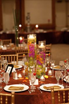 Candles In Water Centerpiece