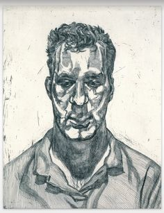 desimonewayland: Lucian Freud: Kai, 1991-1992 - Etching