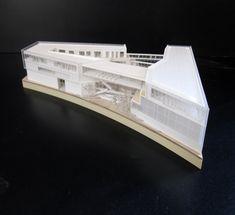 Maquette d'architecture pour le learning center de Saclay architecte: http://www.plasticine.fr/ maquette: www.alpha-volumes.com