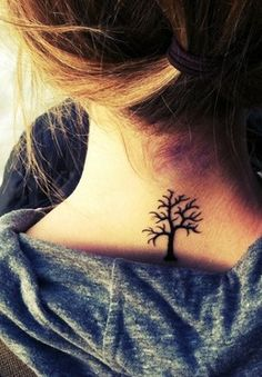 tree tattoo - with birds