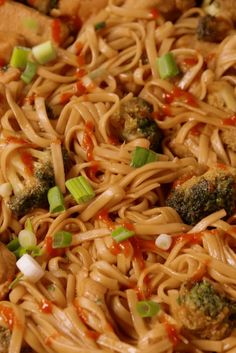 Sriracha Chicken Noodles - Delish.com