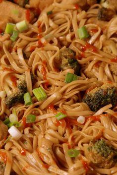 Sriracha Chicken Noodles  - Delish.com