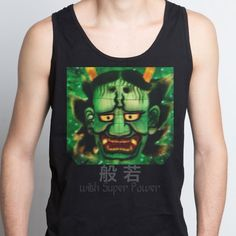 Hannya with Super Power 般若 - Men's Tank Top - designed by cool-rock using Snaptee Cool Rocks, Personalized T Shirts, Super Powers, Tank Man, Shirt Designs, Tank Tops, Tees, Collection, Women