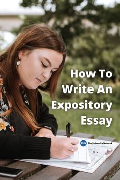 What's an expository essay and how do you go about writing one? This article has the answers! Academic Writing, Writing Skills, College Essay, College Tips, College Survival Guide, College Club, Saving For College, Essay Writer, Compare And Contrast