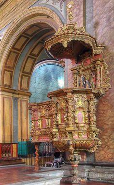 Pulpito en la Iglesia del Sagrario - Quito, Ecuador / por Wilo Enríquez en 500px