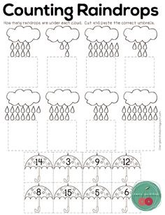 A collection of spring activities for Kindergarten for MATH, ELA and Science. This No Prep Spring Activities will save you a lot of work and will give your kids a lot of options to practice a variety of skills. Preschool Weather, Preschool Class, Preschool Curriculum, Kindergarten Activities, Homeschool, Kids Math Worksheets, Counting Worksheet, Matching Worksheets, Education Positive