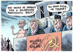 Cartoon by Rob Rogers - Trump/Putin 2016