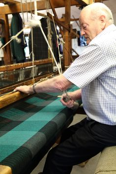 From start to finish, experienced craftspeople ensure that our wool garments are made to the highest of standards and worthy of its Irish heritage. #weaver #loom #donegaltweed #ardara #irishtraditions #weaving #tweed Tweed Coat, Tweed Jacket, Irish Hat, Irish Traditions, Tweed Fabric, Flat Cap, Donegal, Loom, Weaving