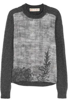 Marni Treescape printed knitted sweater | NET-A-PORTER