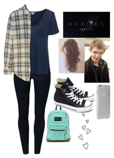 """Tommy(Robbie Kay) Heroes Reborn"" by haleyngarcia ❤ liked on Polyvore featuring School Rag, Splendid, Current/Elliott, Case-Mate, Converse and JanSport"