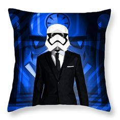 Awesome Storm Trooper Throw Pillow by Filip Aleksandrov