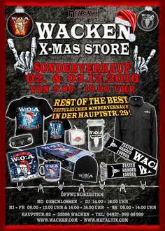 nice Wacken X-Mas Store – Sonderverkauf am 02. & 03.12.2016