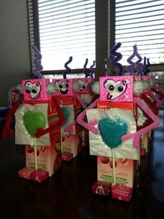 Valentines Day Robot Juice Boxes