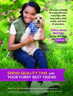 Video: China Anne McClain's New peta2 Campaign Encourages Kids To Shower Dogs And Cats With Affection