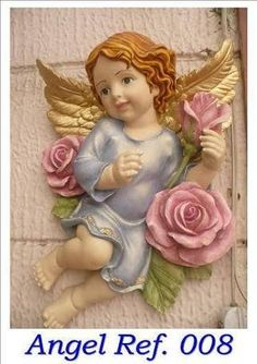Hermoso Sacred Garden, Angel Artwork, Garden Angels, Angel Statues, Prayer Room, Angel Ornaments, Animal Design, Cherub, Paint Designs