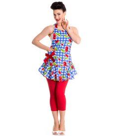 #1950s Style Checkered Cherry Apron #uniquevintage