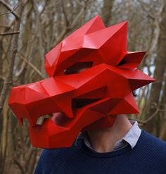 Dragon Mask - Folded Paper masks
