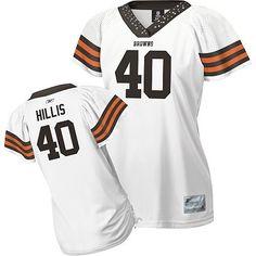 Reebok Cleveland Browns Peyton Hillis Women s Field Flirt Fashion Jersey  nike Cleveland Browns 5a68e5094