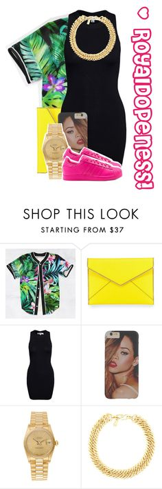 """""""Did It On Em.!"""" by royaldopeness ❤ liked on Polyvore featuring Rebecca Minkoff, Glamorous, Rolex, adidas, Yves Saint Laurent, GetTheLook, cuteness, royal_dopeness and Bombful"""