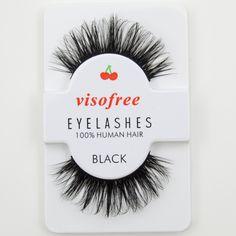 Visofree Faux Cils Noir 3D Cils de Cheveux Humains Main Épaisse Eye Lashes #29