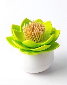 Qualy Lotus Toothpick Storage BOX Gorgeous Home Decor Living Style | eBay
