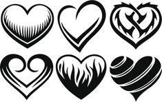 Diseños de corazones tribales - Batanga